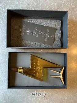 One Empty Tesla Tequila Limited Edition Lightning Bottle, Lid, Box & Stand