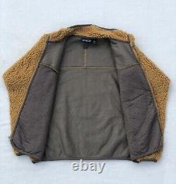 PATAGONIA Retro X Cardigan Beech Wood Tequila Gold Deep Pile Sherpa Fleece 2001