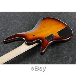 PREORDER Ibanez GWB205TQF Gary Willis 5-String Bass Guitar, Tequila Sunrise Flat