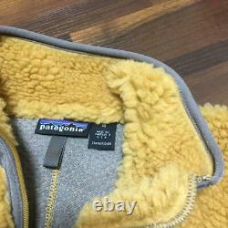 Patagonia Fleece Jacket Retro Cardigan Classic Retro X Tequila Gold Size XS New