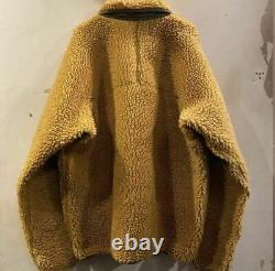 Patagonia classic retro pile cardigan fleece jacket size XL Tequila gold