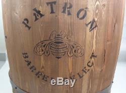 Patron Tequila 24 Wood Barrel Cask Display Shelf for Bar Man Cave