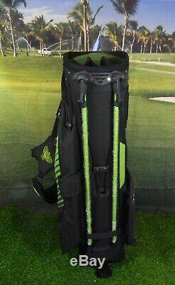 Patron Tequila Callaway Golf Stand Bag 7 Way Divider Green and Black NEW