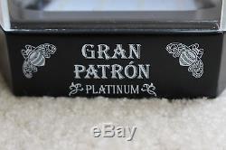 Patron Tequila Glorifier set of 3 Locking Display Silver Platinum Burdeos Used
