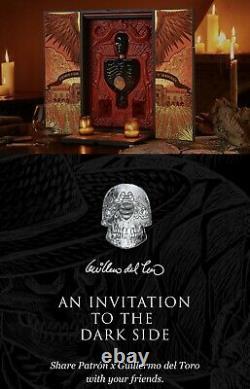 Patron Tequila Guillermo Del Toro dead skull box and book