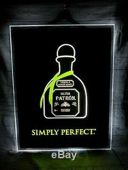 Patron Tequila Simply Perfect Lighted Animated Sign Bar Man Cave Party