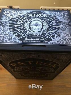 Patron x Guillermo Del Toro Anejo Tequila 750 ml, Book, Full Set