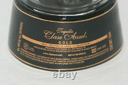 RARE Clase Azul GOLD Tequila Hand Painted Black EMPTY Bottle 750 ml READ DESC