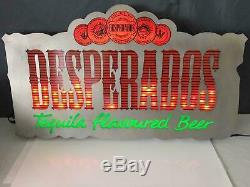 Rare Desperados light sign beer working music movement tequila flavoured