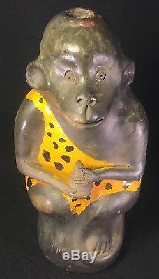 Rare Tarzan Loincloth Mexican Folk Art Chango Monkey Mezcal Tequila Bottle