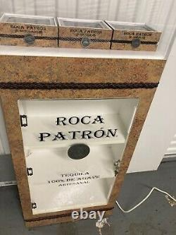 Roca Patron Tequila Floor Display with Lighted Bottle Stands Man Cave Liquor Bar