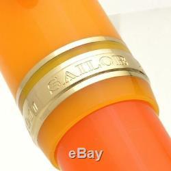 SAILOR Large Progear Cocktail Tequila Sunrise 21K Gold M Fountain Pen 1000 piec