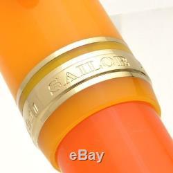 SAILOR Limited Large Progear Cocktail Tequila Sunrise 21K Gold M Fountain Pen