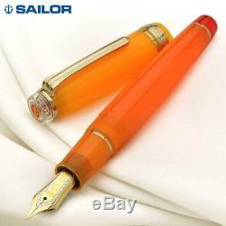 SAILOR Professional Gear Tequila Sunris Fountain Pen Cocktail Series Orange 21K
