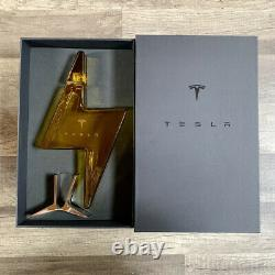 SAME DAY SHIP Tesla Tequila Lightning EMPTY Bottle, Stand and Box Decanter
