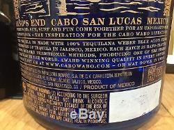 Sammy Hagar 3 Liter 4th Generation BLUE Cabo Wabo Tequila Promo Display Bottle