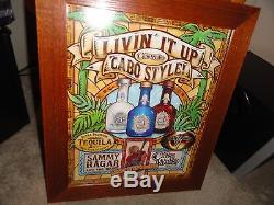 Sammy Hagar, Cabo Wabo Tequila, Livin It Up 2006, Oak & Glass Art Display, Rare
