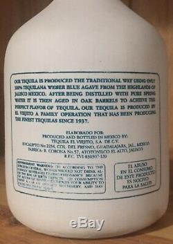 Sammy Hagar Original 1st Cabo Wabo Ceramic White Tequila Bottle Rare Gold Label