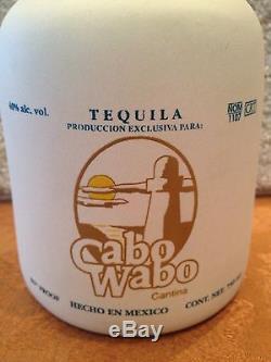 Sammy Hagar Original Cabo Wabo Ceramic White Tequila Bottle Extremely Rare