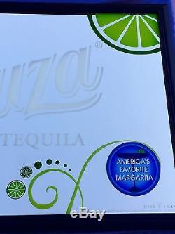 Sauza Tequila Rum Whiskey Margarita Beer Bar Big Mirror Man Cave New