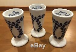 Set (3) Clase Azul Hand-Crafted Painted Tequila Snifter Shot Glass 4