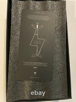 Ships Today Tesla Tequila Empty Bottle + Stand + Box