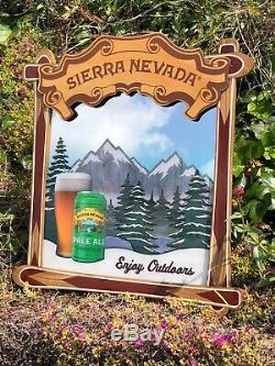 Sierra Nevada Pale Ale Ski Tequila Whiskey Beer Bar Sign Pub Man Cave Mirror