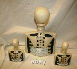 Skelly Azulejos Agave Tequila Collectible Bottle Decanter Set 1 Opened