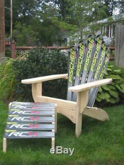 Snow Ski Adirondack Chair & Ottoman ID 709098