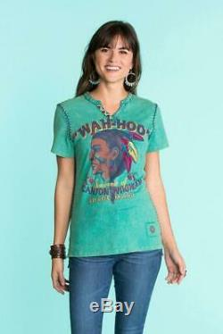 T3052 Double D Ranch Wah-hoo Tee Tequila Turquoise