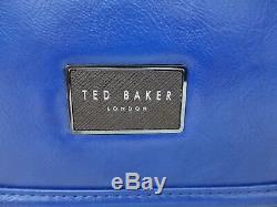 TED BAKER Mens Satchel Bag TEQUILA Blue Shoulder Despatch Docu Bags BNWT R£129