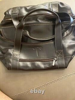 TESLA -Authentic Leather Duffle Limit Edition Bag, NEVER SOLD-GLOSSY ELON TEQUILA