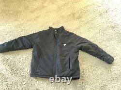 TESLA Men's Black Full Zip Soft Shell Jacket Sz Large, Fleece Elon Tequila
