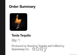 TESLA TEQUILA BOTTLE (Empty) with BOX & STAND (PRE ORDER) ORDER IS CONFIRMED RARE