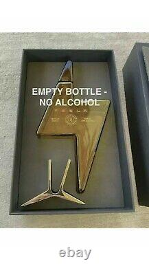 TESLA TEQUILA EMPTY BOTTLE With STAND