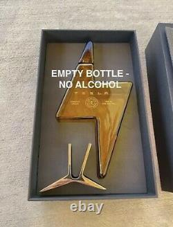 TESLA TEQUILA LIGHTNING BOTTLE (Empty) withSTAND & BOX, IN HAND with FREE SHIPPING