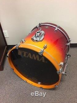 Tama Starclassic Birch 22 x 18 bass drum Japan Made (Tequila) Sunrise