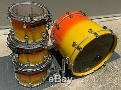 Tama Starclassic Maple 4 Pc Shell Pack 22 10 12 14 Tequila Sunrise