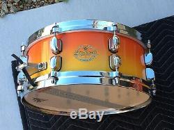 Tama Starclassic Maple 7 Piece Drum Set Tequila Sunrise Made in Japan