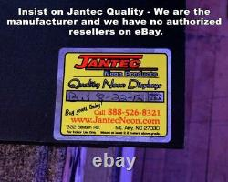 Tequila & Cactus Neon Sign Jantec 18 x 24 Mexican Restaurant Bar Alcohol