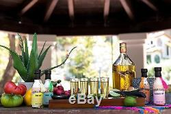 Tequila Cantina Mas Fina! A Set of Four Sipping Shot Glasses, Flavored