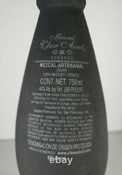 Tequila Clase Azul Black Matte Mezcal Empty Bottle Hand Crafted 750ml Mexico