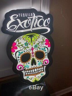 Tequila Exotico Led Bar Sign Man Cave Garage Decor Light Sugar Skull Liquor