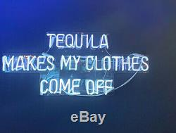 Tequila Makes My Clothes Come Off Neon Sign Acrylic Light Lamp With Dimmer