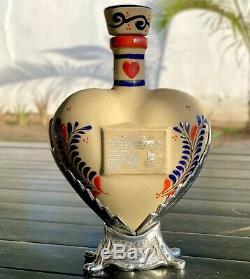 Tequila Par 72 Grand Love Edition Bottle Hecho En Mexico Empty Heart Cerámica