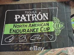 Tequila Patron Autographed Flag IMSA Racing 2016 38 drivers RARE Race Used