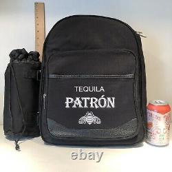 Tequila Patron Picnic @ Ascot Picnic Backpack for 2 Cheese Board Knife Plates ++