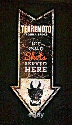 Terremoto Tequila Shots LED Neon Motion Light Sign RARE