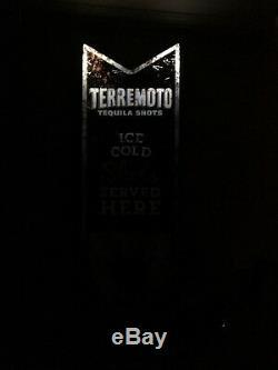 Terremoto Tequila Shots LED Neon Motion Light Sign RARE