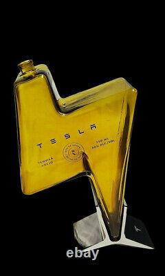 Tesla Empty Lightning Tequila Bottle Boxed
